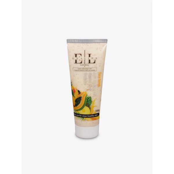 Natural Face Scrub - Fruit Mocktail, with Almond Shell Granules